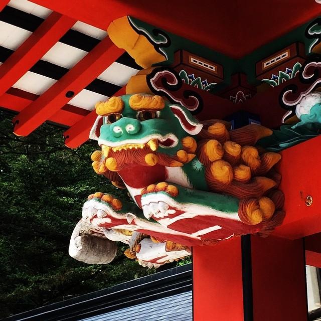 霧島神宮狛犬「うん」