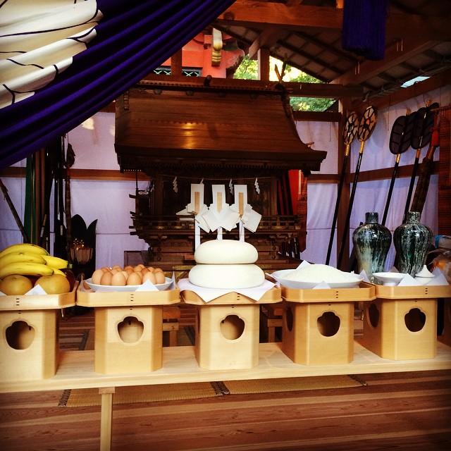 #鹿島神宮 御船祭 最前列。お神輿奉納されました!