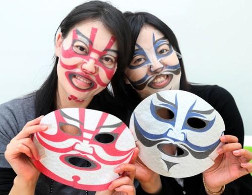歌舞伎フェイスパック:着用時