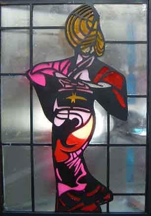 おわら風の盆 ステンドグラス女