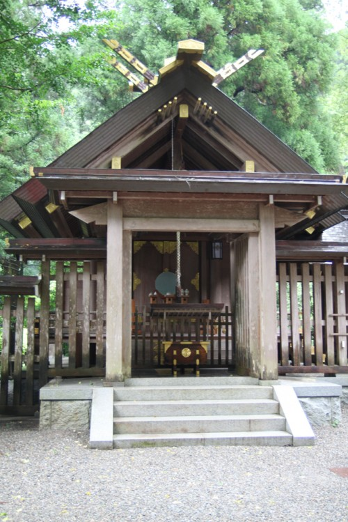 天岩戸神社 西本宮 左拝殿